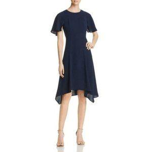 NWT Donna Karan Asymmetric Handkerchief Hem Dress.